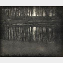 Edward Steichen (American, 1879-1973)      Moonlight/The Pond