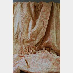 Set of Fortuny Wax Resist Cotton Drapes