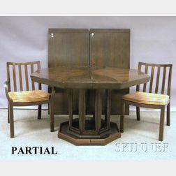Mid-Century Modern Baker Dining Table and Chairs