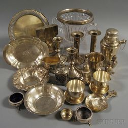 Assorted Group of Mostly Sterling Silver Tableware