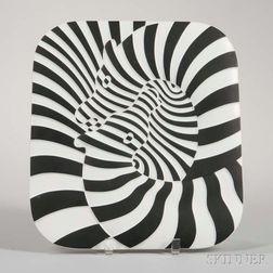 Victor Vasarely Zebra Plate for Rosenthal