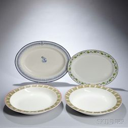Four Wedgwood Queen's Ware Platters