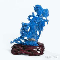 Lapis Lazuli Carving of Guanyin