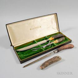 Henckels Antler-handled Meat Carving Set
