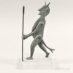 Articulated Metal Devil Sculpture