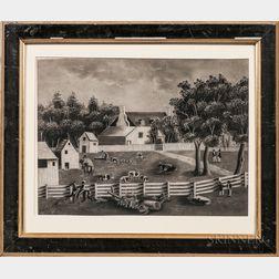 American School, 19th Century      Southern Farmyard