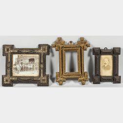 Three Small Tramp Art Frames
