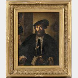 Continental School, 19th Century    Portrait of a Renaissance-period Scholar