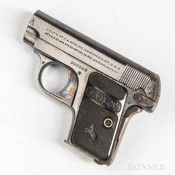 Colt Model 1908 Hammerless Pocket Pistol