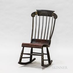 Small Fancy-painted Rocker
