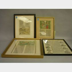 Four Early European Printed Book Leaves