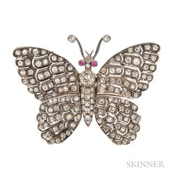 Diamond Butterfly Brooch