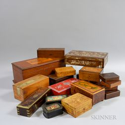 Group of American and International Wooden Boxes