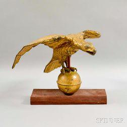 Gilt Molded Copper Eagle Weathervane