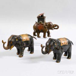 Three Elephant Mechanical Banks