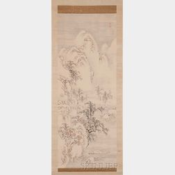 Hanging Scroll Depicting a Snowscape
