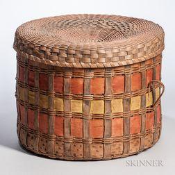 Painted Splint Woven Basket