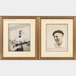 Kay Bell Reynal (American, 1905-1977)      Two Portraits: Carl Sandburg