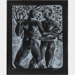 Hans Erni (Swiss, 1909-2015)      Daphne et Apollon