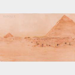 Henry Bacon (American, 1839-1912)      Pyramids