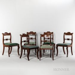 "Set of Six ""Grecian"" Side Chairs"