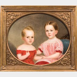 American School, Mid-19th Century      Double Portrait of Lucius F. Orton and Ann D. Orton