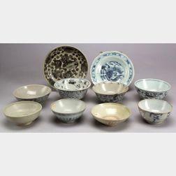 Ten Porcelain Bowls