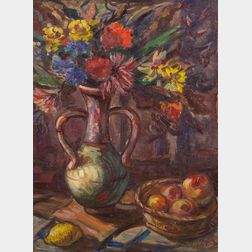 Walt Kuhn (American, 1877-1949)    Still Life with Jug of Flowers