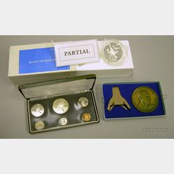 Group of U.S. and World Commemorative Coins, Proof Sets, and Medals