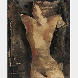 Rodolphe-Théophile Bosshard (Swiss, 1889-1960)      Nude Woman