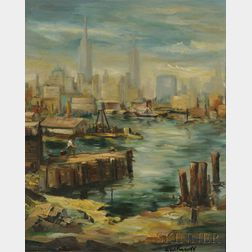 Betty E. Skolnikoff (American, 1902-1998)      Lot of Two New York City Views