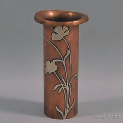 Heinz Art Metal Shop Silver on Bronze Vase