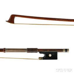 German Nickel Silver-mounted Violin Bow