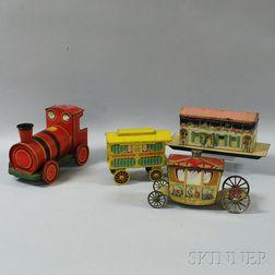 Four Transportation-themed Advertising Tins