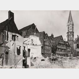 Albert Renger-Patzsch (German, 1897-1966) Abbruchviertel mit Jakobikirche, Hamburg (Demolished Quarter with St. James Church, Hamburg)