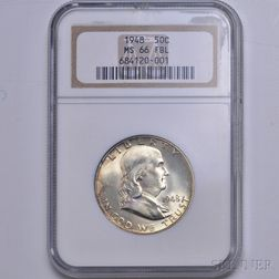 1948 Franklin Half Dollar, NGC MS66.     Estimate $200-400