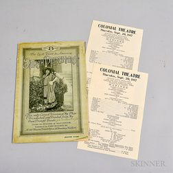 Sarah Bernhardt's Last Visit to America   Program and Two Jeanne D'Arc Fliers.
