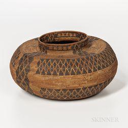 Western Mono Polychrome Basket