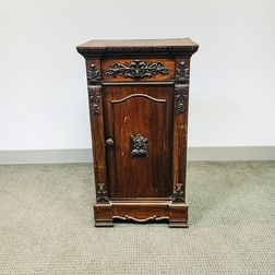 American Carved Rosewood Cabinet