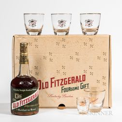 Old Fitzgerald 6 Years Old Foursome Gift Box 1962, 1 quart bottle (pc) Spirits cannot be shipped. Please see http://bit.ly/sk-spirit...