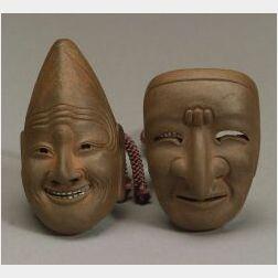 Two Stoneware Netsuke