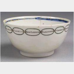 Chinese Export Porcelain Martha Washington Tea Bowl
