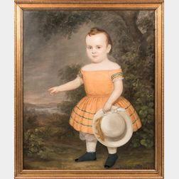 American School, Mid-19th Century      Portrait of a Child