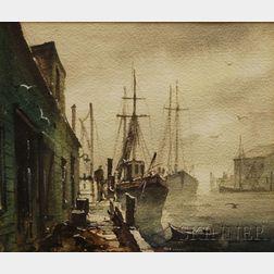 John Cuthbert Hare (American, 1908-1978)      Harbor Fog-Gloucester