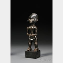 Ashanti Carved Wood Female Figure