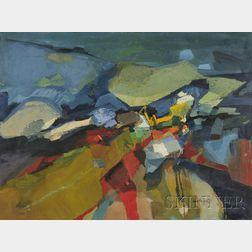 Betty E. Skolnikoff (American, 1902-1998)      Composition in Blue