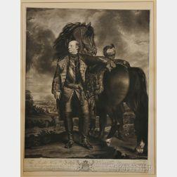 Portraits of British Nobility, Six Mezzotint Prints: