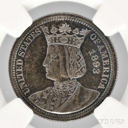 1893 Isabella Commemorative Quarter, NGC MS63 Prooflike.