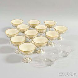 Twelve Sterling Silver Sherbets