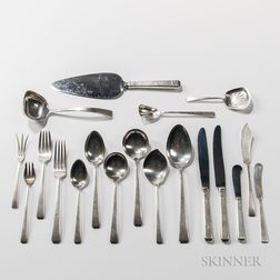 """Eighty-eight-piece Towle """"Craftsman"""" Pattern Silver Flatware Service"""